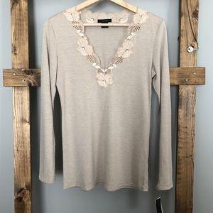 Natori Zen Floral Long Sleeve Pajama Top